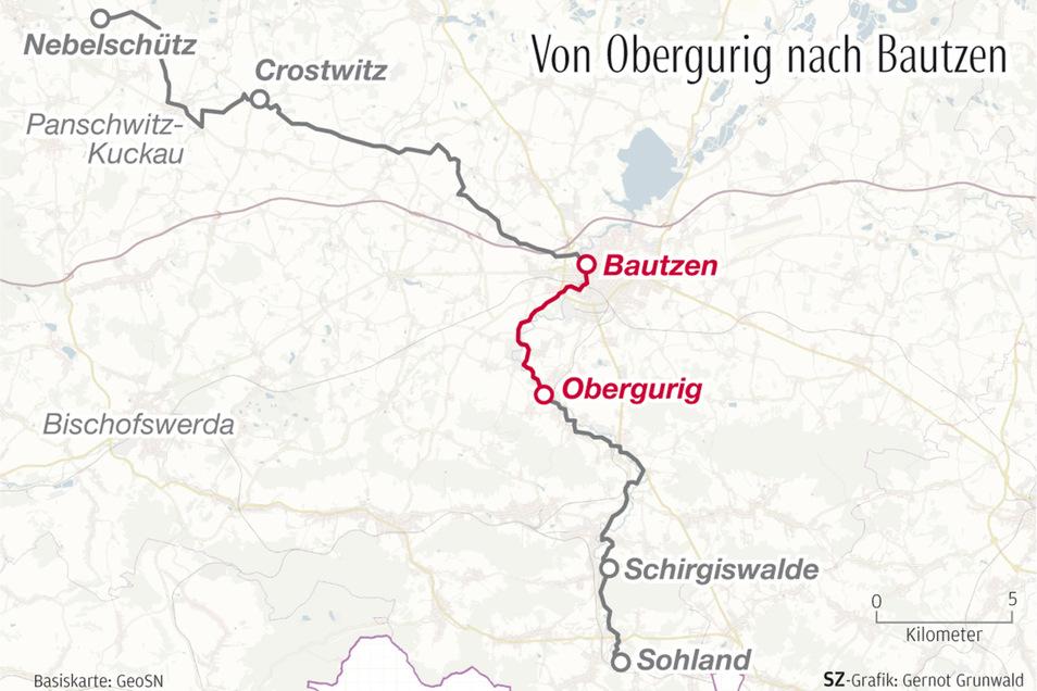 Die dritte Etappe der Wahlwanderung führte die SZ-Reporterinnen von Obergurig nach Bautzen.