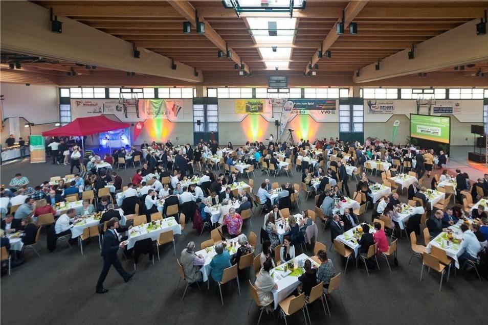 Die Saubachtalhalle in Wilsdruff hat sich Veranstaltungsort der Gala bewährt.