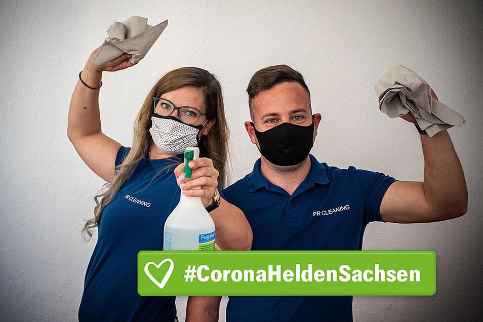 Desinfektionsmittel sind immer dabei, wenn sich Nicole und Patrick Reiche auf den Weg zur Arbeit machen. Die ist mehr geworden, seit es Corona-Hygienevorschriften gibt. Und es gibt neue Hürden.