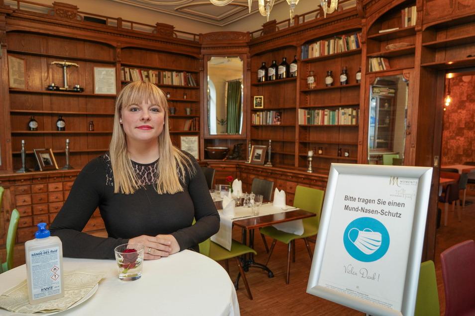 Annett Schneider leitet das Moments Boutique Hotel mit eigenem Restaurant in Bautzen. Sie setzt auf das 3G-Modell.