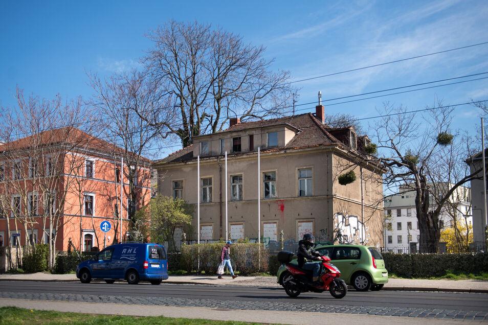 Über die leer stehende Gebäude an der Königsbrücker Straße wird diskutiert. Unbekannte besetzten kürzlich eine der Stadtvillen, auch politisch ist das Thema präsent. Doch was plant der Besitzer?