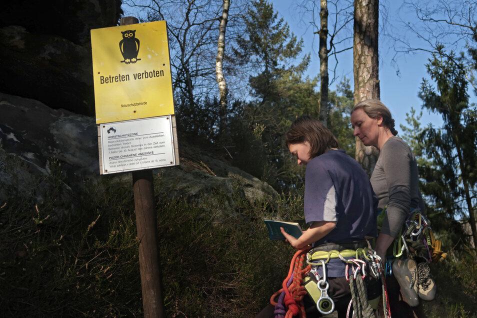 Erste Zugänge und Kletterfelsen im Nationalpark sind gesperrt worden.