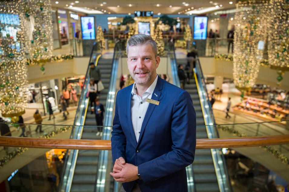 Erwartetet am zweiten Adventswochenende einen Kundenansturm: Centermanager Jens Preißler.