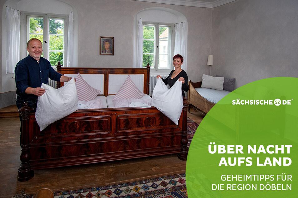 Die Restauratoren Thomas Schmidt und Diana Berger-Schmidt haben dem mehr als 300 Jahre alten Pfarrlehn in Wendishain leben eingehaucht. Hier kann nicht nur übernachtet, sondern auch gefeiert werden.