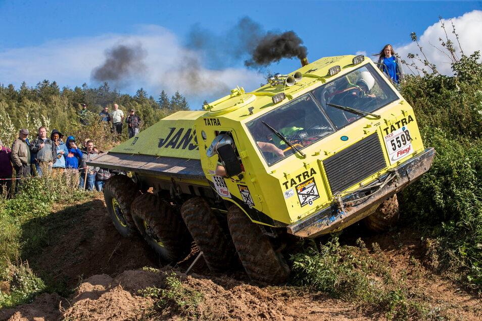 Tatras werden einige am Start sein beim Truck Trial am Wochenende im Hartmannsdorfer Steinbruch.