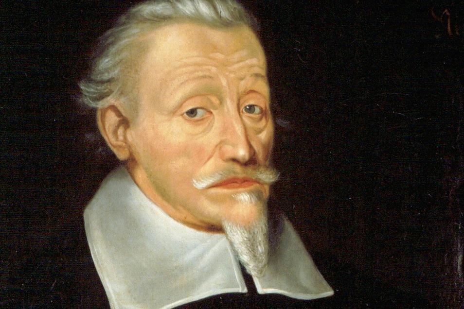 Heinrich Schütz um 1660, als er hochbetagt unverändert noch Meisterwerke schuf.