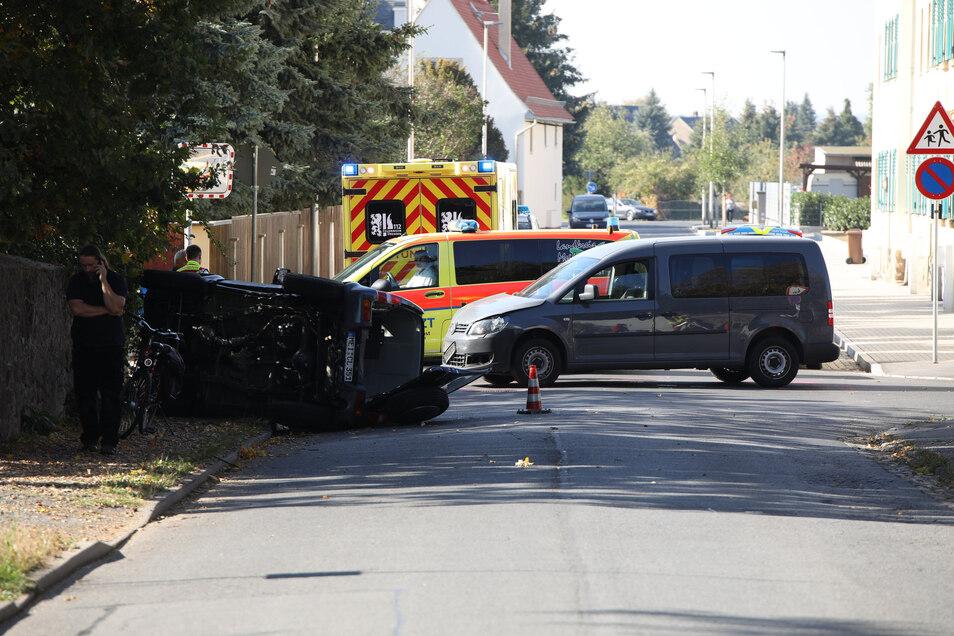 Die Kreuzung von Serkowitzer und Friedhofstraße ist ein Unfallschwerpunkt.