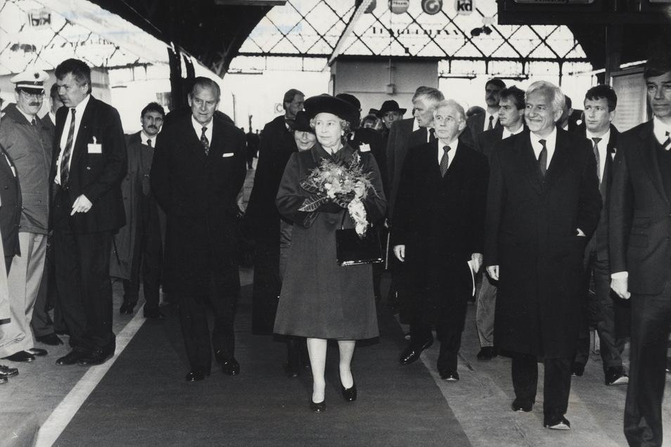1992 besuchte die englische Königin Elizabeth II. Dresden.
