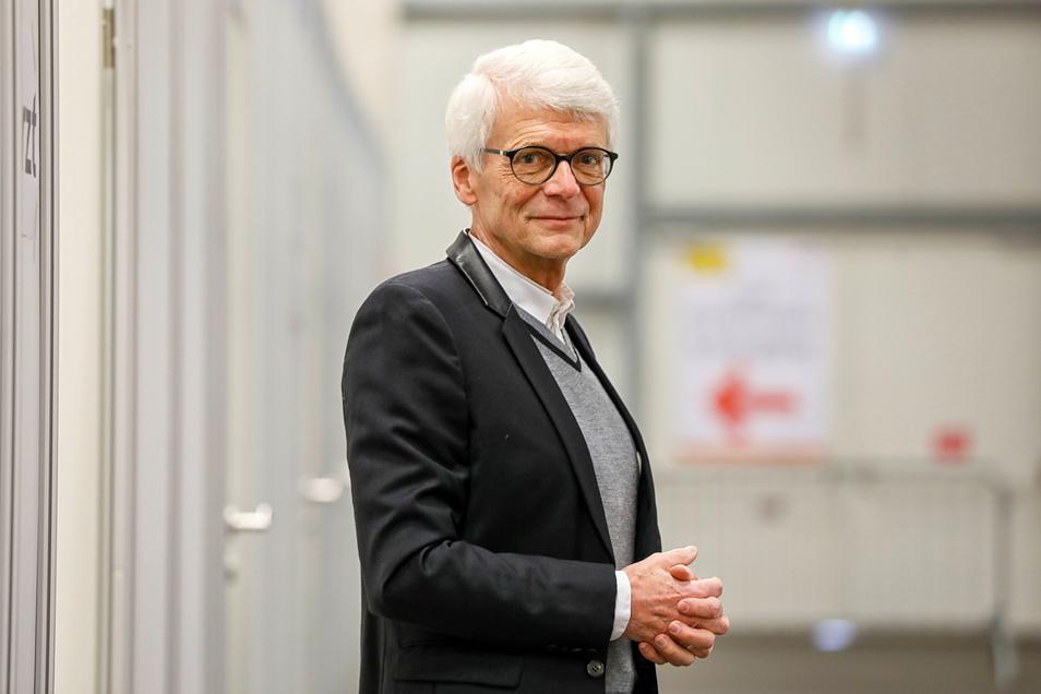 Dr. Hans-Christian Gottschalk in Impfzentrum Löbau.