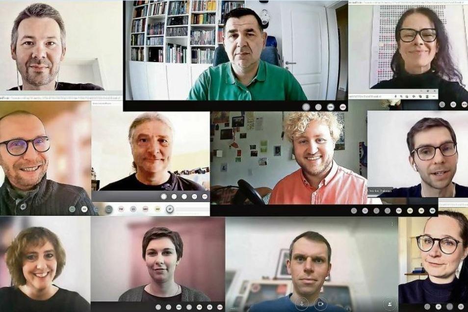 Das Team der Online-Redaktion: Philipp Siebert, Mirko Jakubowsky, Anja Sohrmann, Marc Hippler, Jens Pabst, Maximilian Helm, Fabian Deicke, Claudia Schade, Henriette Jedicke, Tobias Winzer und Franziska Anders.