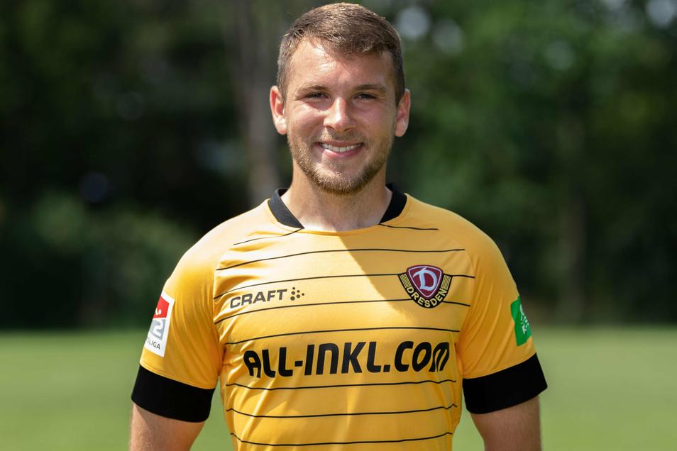 Justin Löwe musste das Dynamo-Training am Mittwoch vorzeitig abbrechen.