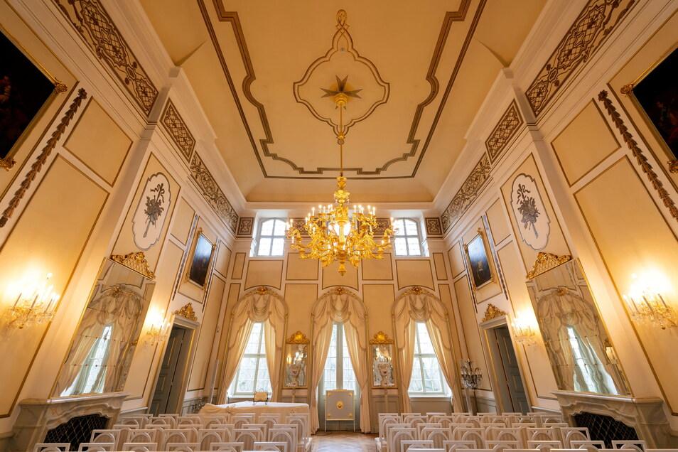 Der Spiegelsaal im Schloss bietet eine prachtvolle Kulisse für Konzerte - wenn nicht gerade Corona Veranstaltungen unmöglich macht.