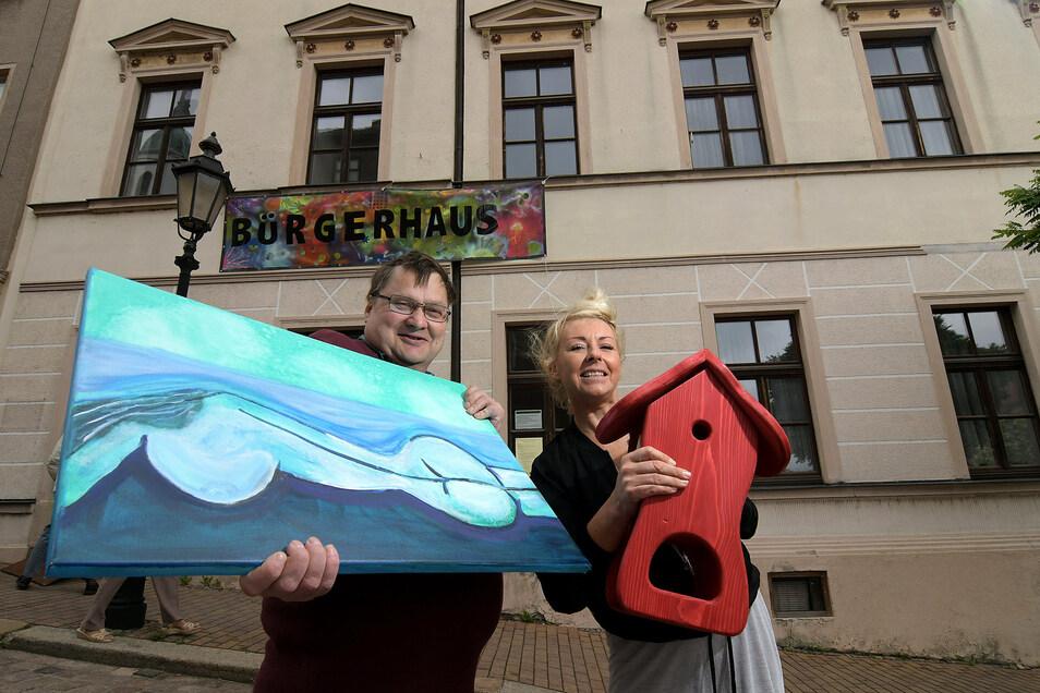 Es gibt wenig, was es im Bürgerhaus in Roßwein am Markt noch nicht gab. Sogar Kunst, Kreatives und Handwerkliches wurde dort schon gezeigt, unter anderem von Dieter Kallweit und Madlen Guß.
