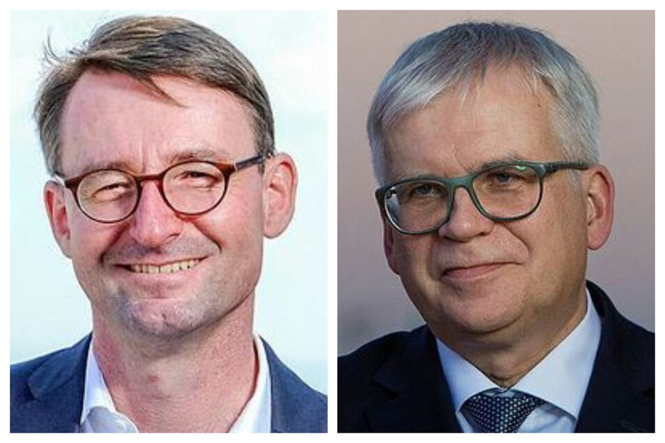 Innenminister Roland Wöller (CDU) und Finanzminister Hartmut Vorjohann (CDU.