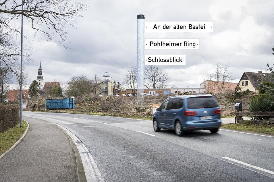 Wenn man auf der Torgauer Straße (B 182) in die Strehlaer Innenstadt fährt, kommt man am neuen Wohnbaugebiet vorbei.