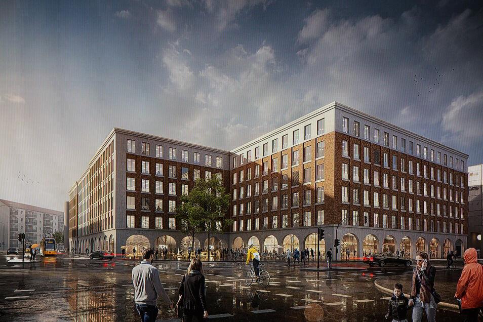 So soll der Bürokomplex der Annenhöfe am Postplatz aussehen. Dafür investiert die TLG Immobilien AG rund 70 Millionen Euro.