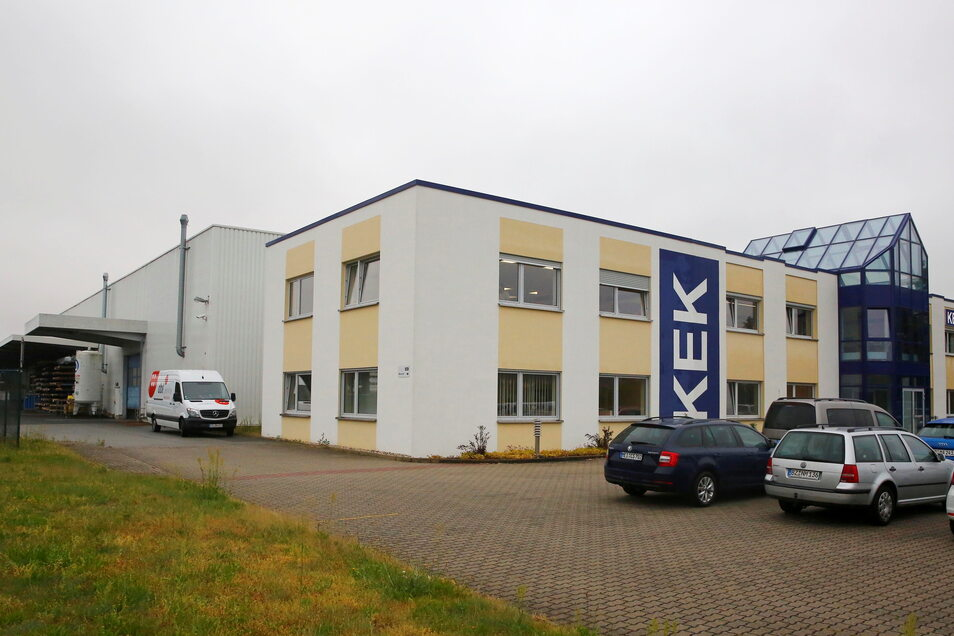 Die Firma KEK hat ihren Sitz im Gewerbegebiet in Laußnitz.