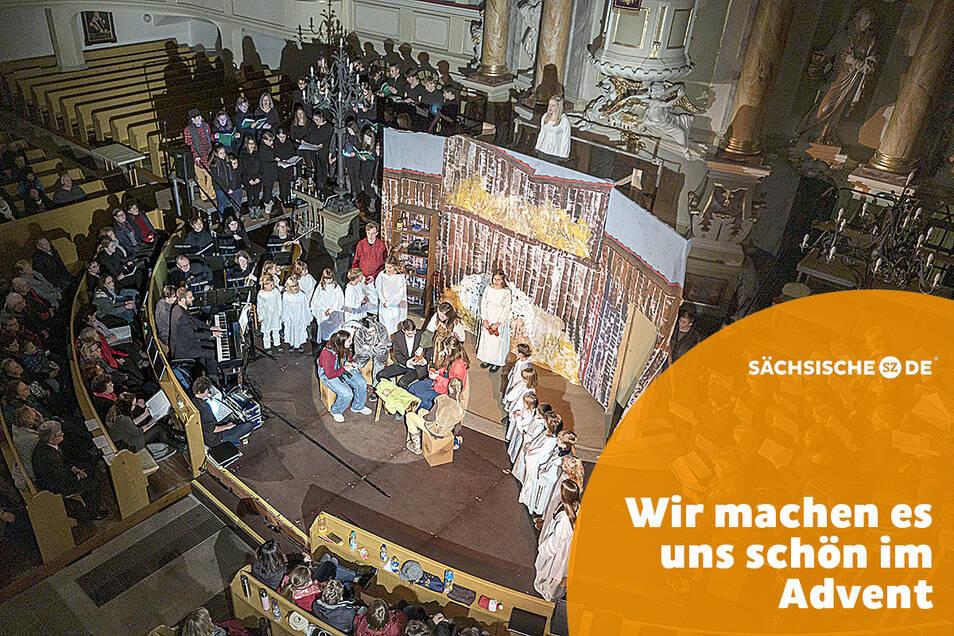 """Das Weihnachtsmusical """"Du Kind in der Krippe"""" kann nicht in Großenhain und Reinersdorf aufgeführt werden."""