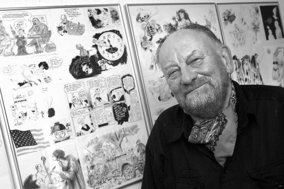 Aarhus: Kurt Westergaard, dänischer Karikaturist. Westergaard ist Medienberichten zufolge gestorben.