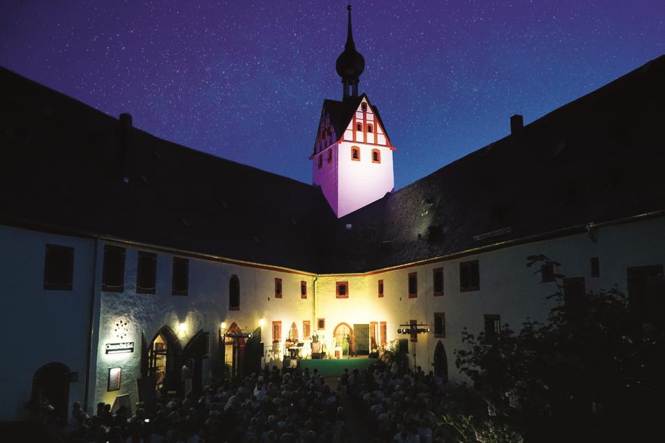 Für die Erneuerung der Außenbeleuchtung erhält Das Schloss Rochsburg Fördergeld vom Kulturkonvent.