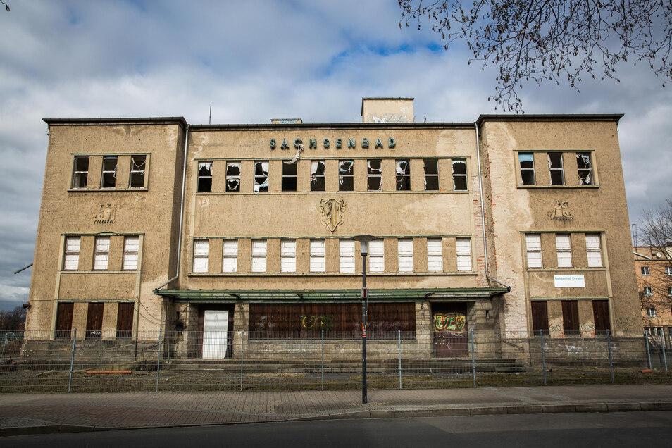 Das ehemalige Sachsenbad ist in einem katastrophalen Zustand.