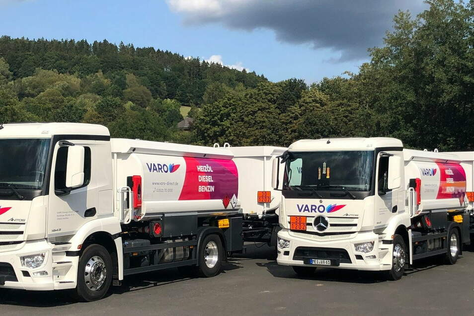 Die Varo-Trucks gehören zum Straßenbild im Landkreis Meißen. Ein US-Investor stockt seine Anteile an dem Unternehmen auf.
