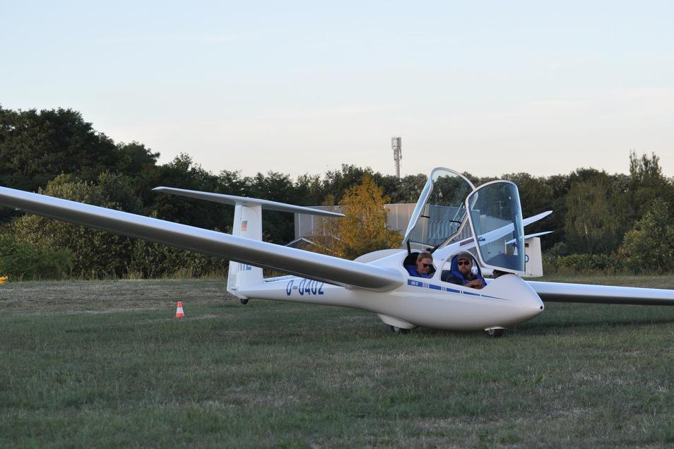 Das waren noch Zeiten: Ein Segelflugzeug auf dem Flugplatz in Görlitz. Momentan ruht der Vereinssport.