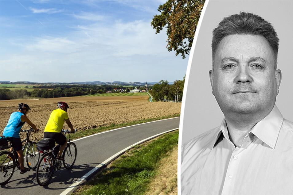 Gesonderte Radwege gibt es in Sachsen noch zu wenige.