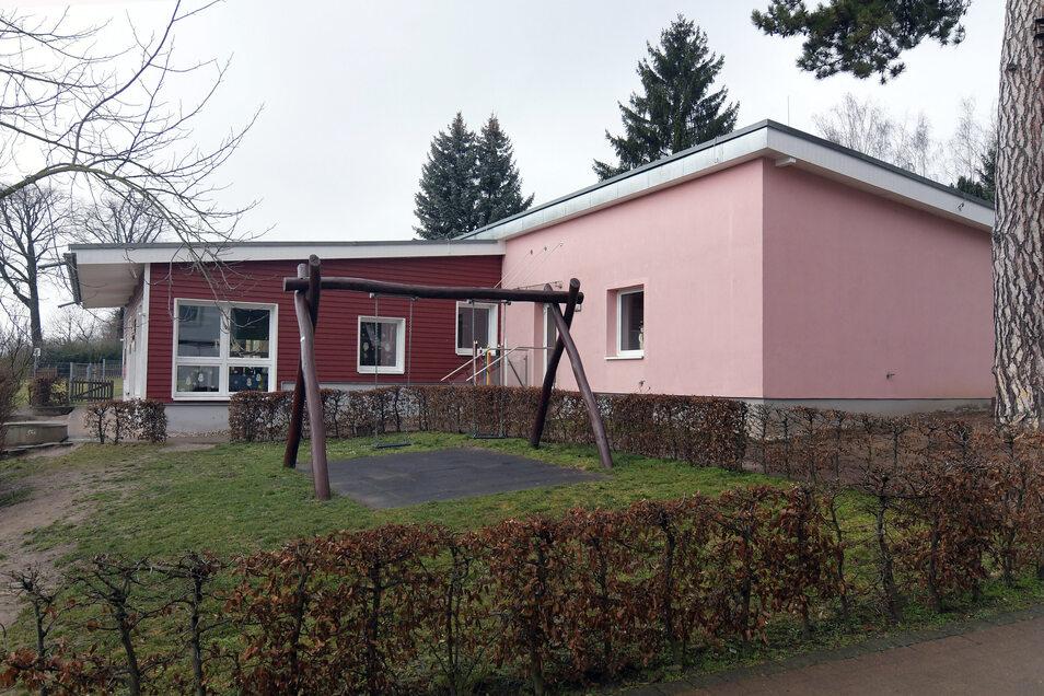 """Der Hort """"Freche Stifte"""" in Lüttewitz wird gebaut."""