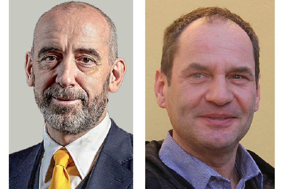 Bautzens Oberbürgermeister Alexander Ahrens hat seinen Pressesprecher André Wucht (r.) beurlaubt.