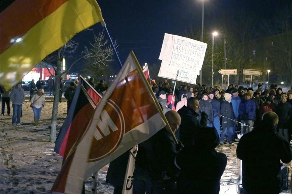An der Lichtenseer Straße mobilisierte die NPD am 19.Januar an die 200 Leute.