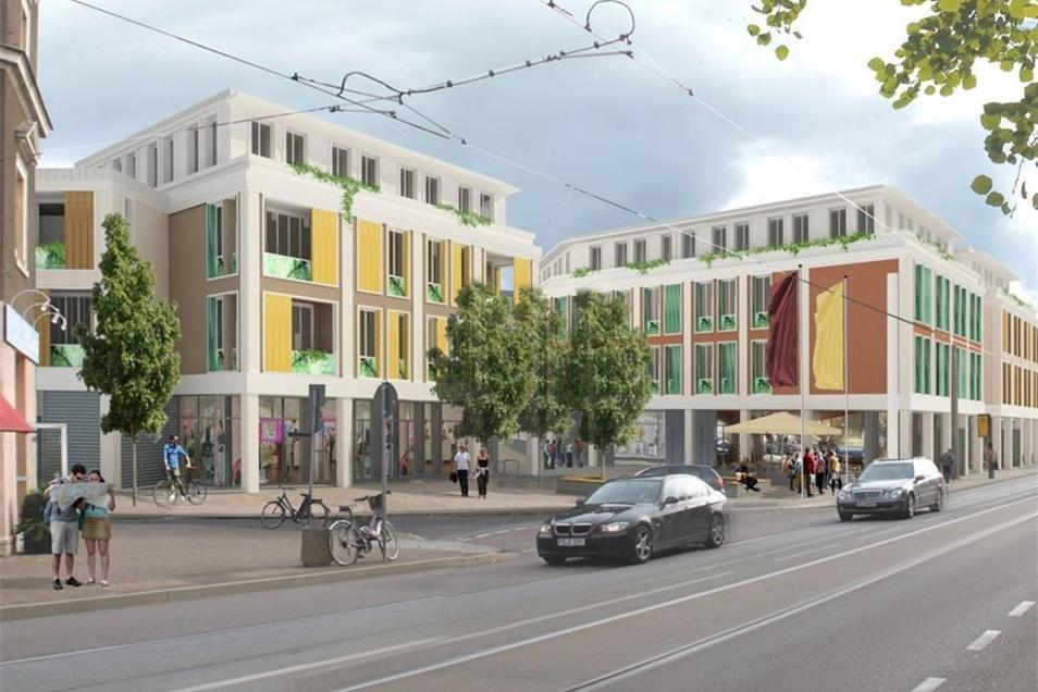 So sah der Plan für die Bebauung an der Meißner Straße aus. Jetzt wird diese Variante überarbeitet.