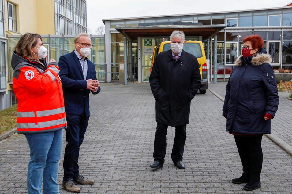 Im Pflegestift Oberland ging es los. Hier wurden Ende Dezember die ersten Pflegeheim-Bewohner im Kreis Görlitz geimpft.