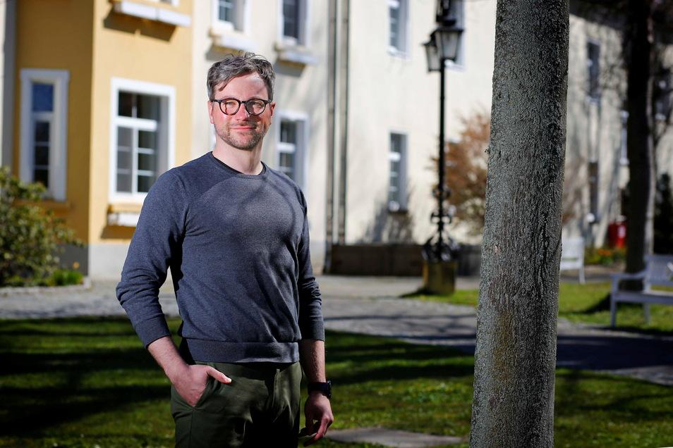 Auch Pflegedirektor Gunnar Scheibe war an den Verhandlungen über einen Haustarifvertrag zwischen der Vamed-Klinik Schloss Pulsnitz und der Gewerkschaft Verdi beteiligt. Er ist zufrieden mit dem Abschluss.