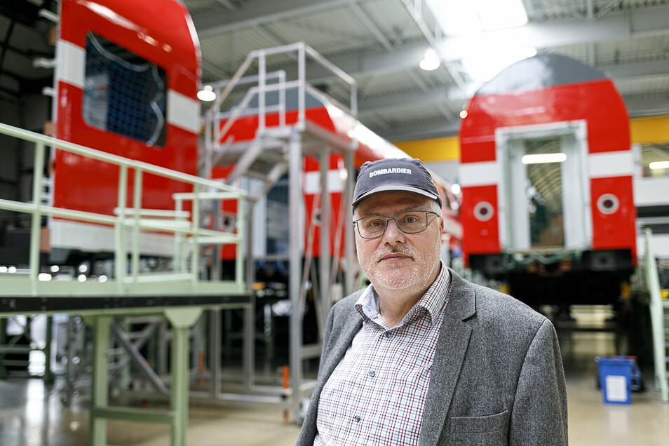 Carsten Liebig, hier noch in seiner beruflichen Tätigkeit bei Bombardier, ist nach wie vor Präsident des Fußballvereins.