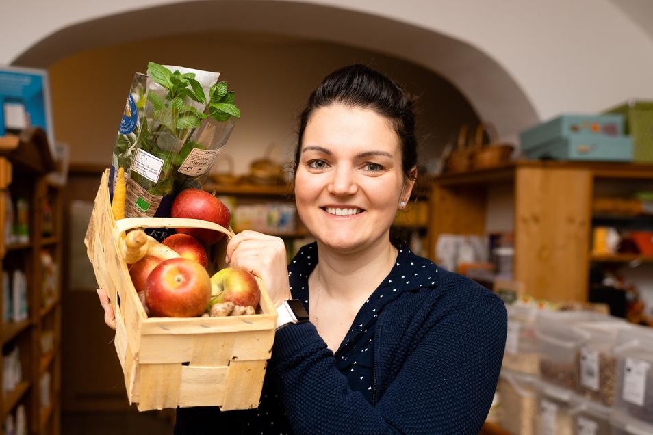 Christin Wegner zog erst vor wenigen Wochen aus Köln nach Bautzen zurück. Die Umweltschützerin will jetzt unverkäufliche Lebensmittel vor der Tonne retten.