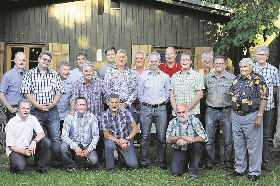 30 Jahre später trafen sich die alten Weggefährten von damals in Weixdorf wieder.