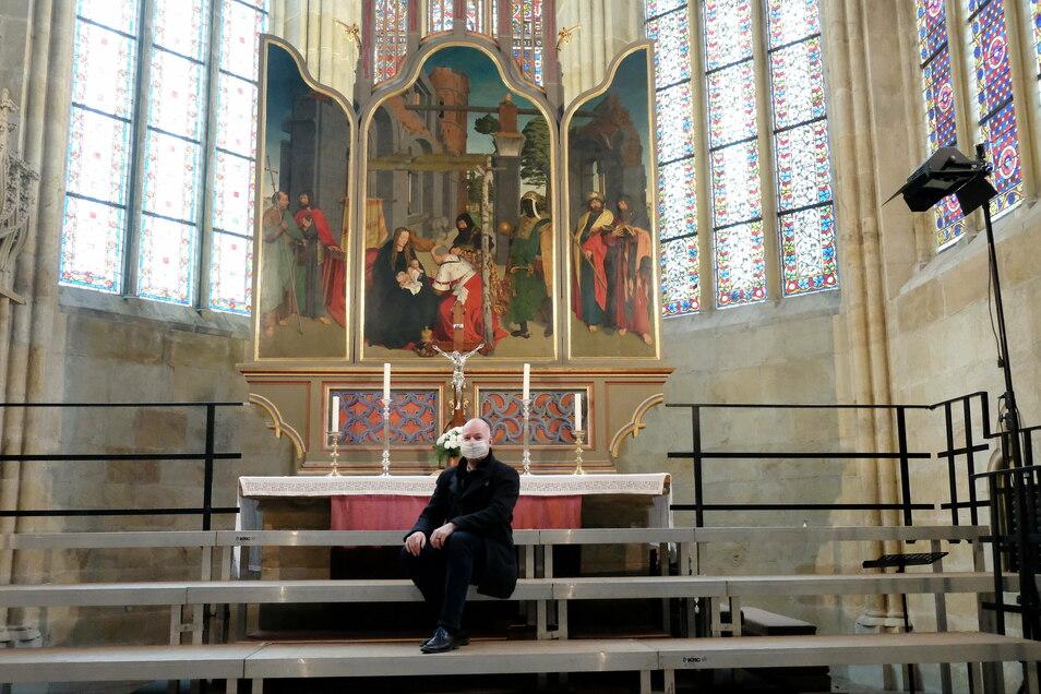 Corona habe den Domchor qualitativ weitergebracht, meint der Domkantor Thorsten Göbel. Sein Ziel für die Zukunft: noch mehr Sänger für den Chor begeistern.