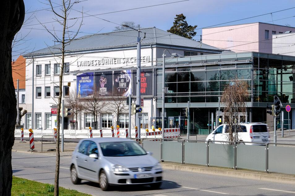 Das Stammhaus der Landesbühnen steht an der Meißner Straße in Radebeul-Mitte.