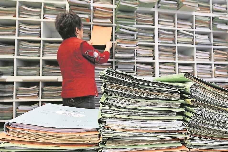 Im Döbelner Finanzamt werden rund 22.000 Steuererklärungen von 71 Mitarbeitern bearbeitet. Damit ist es die kleinste sächsische Behörde.
