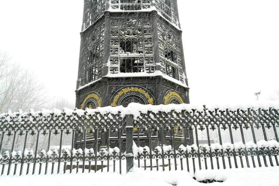 Winterstimmung am Gusseisernen Turm.