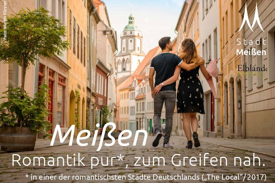 Die Stadt Meißen startet im Juli 2020 eine Großplakat-, Print- und Onlinekampagne unter dem Motto: Meißen - Romantik pur zum Greifen nah.