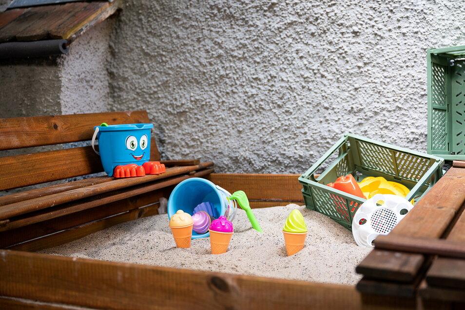 Im Biergarten des Bürgerstübls gibt es eine kleine Kinderspielecke.