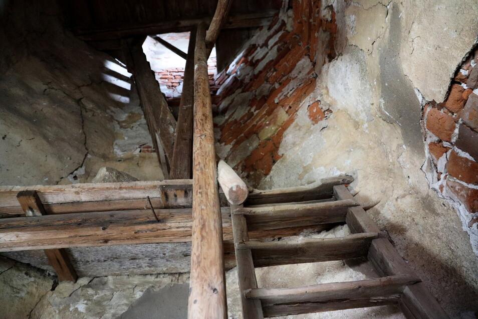 Diese Holztreppe und andere geheimnisvolle Orte haben Marianne von Wolffersdorff zu einem Kinderbuch animiert, das in diesem Sommer erscheinen soll.