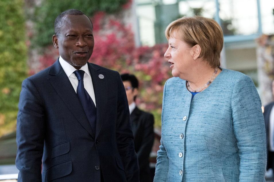 Bundeskanzlerin Angela Merkel (CDU) mit Patrice Talon, Präsident der Republik Benin.