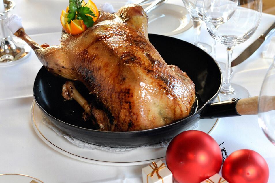 Der Gänsebraten ist der Deutschen liebstes Weihnachtsessen.