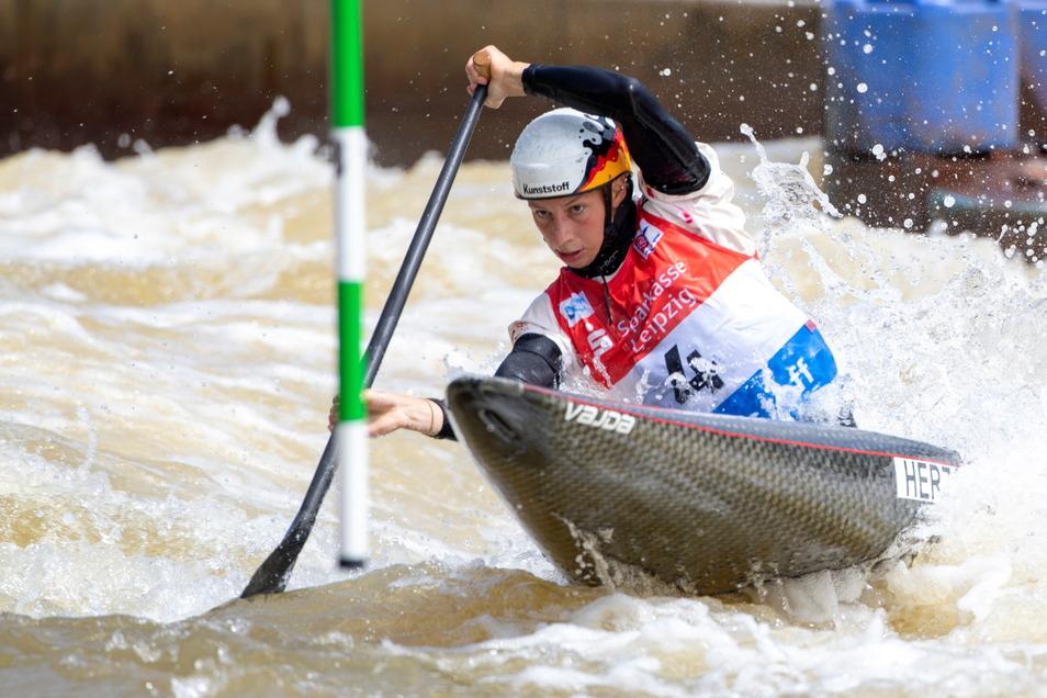 Beim jüngsten Weltcup in Markleeberg landete die Meißnerin Andrea Herzog auf Rang 1.