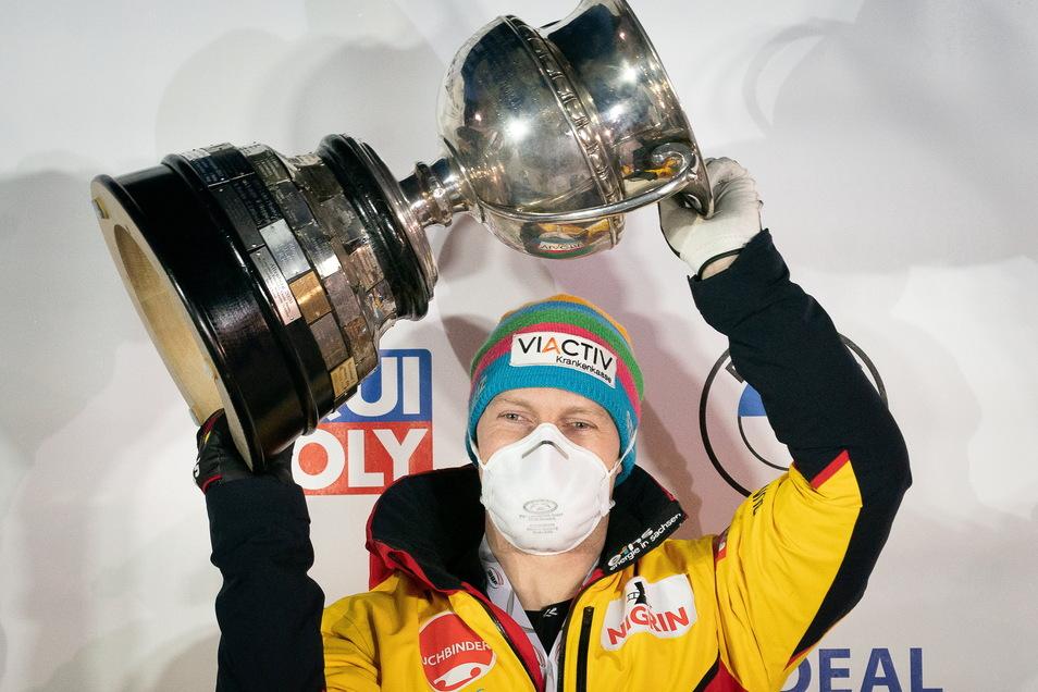 Nächster Pokal, nächste Rekorde: Bobpilot Francesco Friedrich aus Pirna dominiert seine Sportart wie keiner vor ihm.