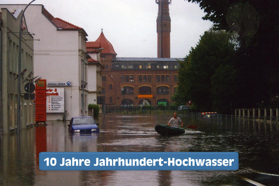 Eigentlich ist die Äußere Oybiner Straße eine normale Straße, im August 2010 wurde sie aber zur Wasserstraße.