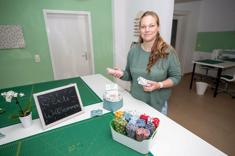 Anja Zimmer-Schröder hat für ihre Nähschule neue Räumlichkeiten gefunden.